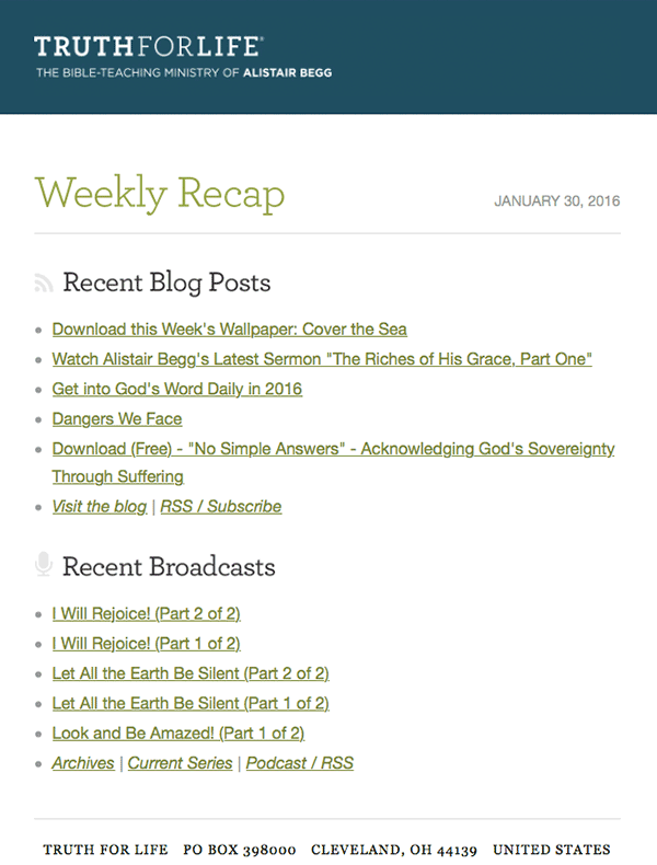 Weekly Recap screenshot